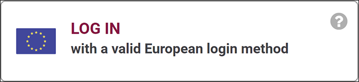 log in with a valid European login method